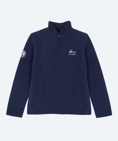 Grizzly - Polaire homme 1/2 zip YKK - Marine