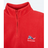 Grizzly - Polaire homme 1/2 zip YKK - Rouge