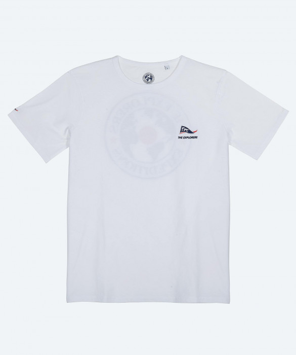 Men's The Explorers short sleeves white t-shirt - Iguana