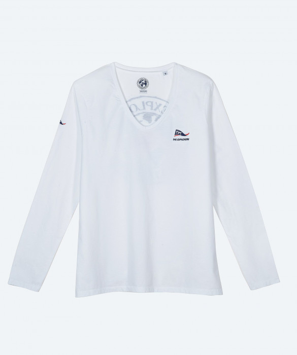 Women's The Explorers long sleeves white t-shirt - Moorea