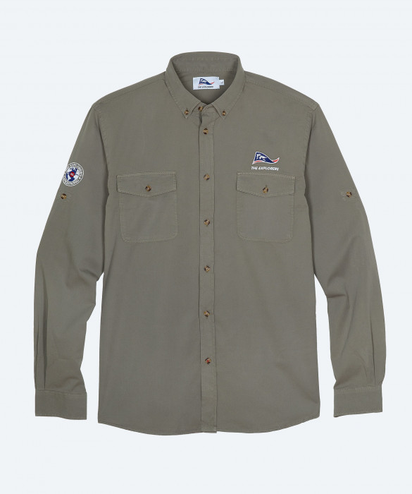 Men's The Explorers long sleeves khaki shirt - Macaw