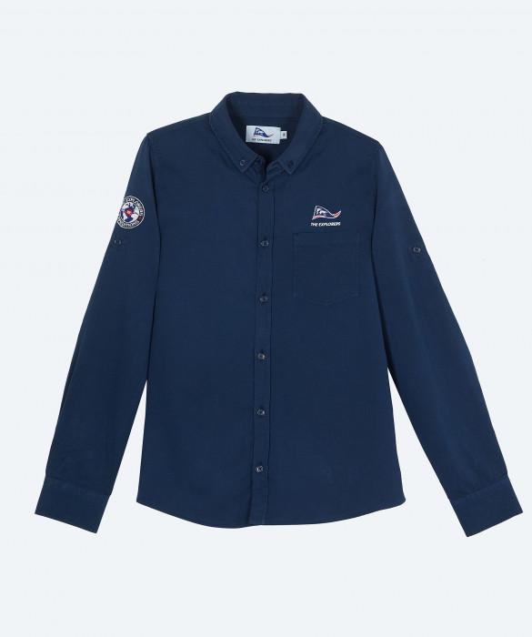 Women's The Explorers long sleeves navy blue shirt - Ara