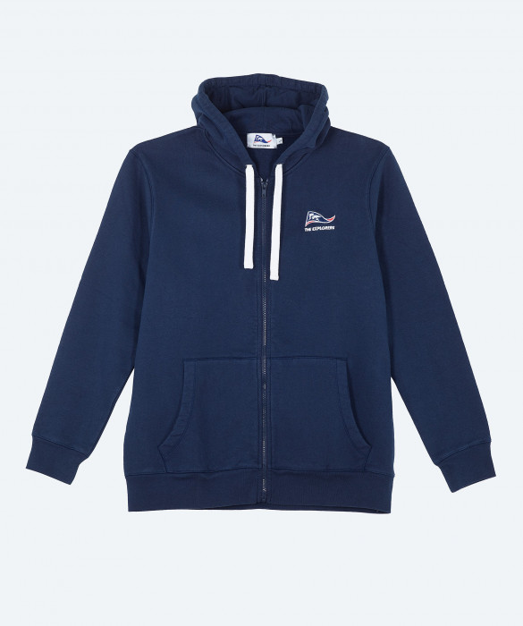 Sweat-shirt capuche The Explorers pour homme ou femme, bleu marine - Pizzly