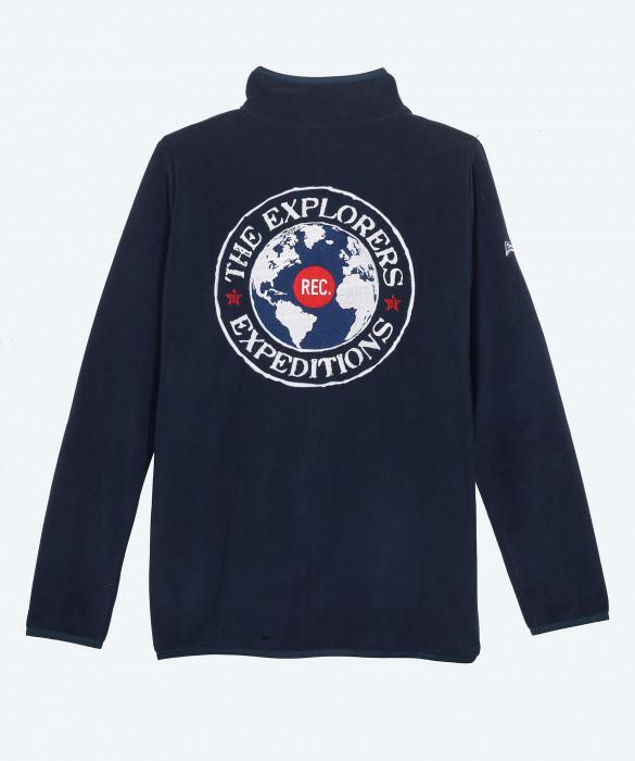 Women's The Explorers navy blue micro polar fleece jacket - Alaska