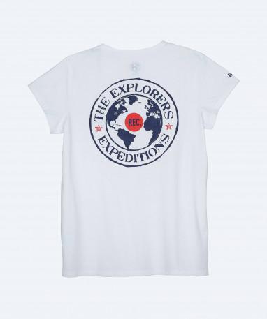 Pinda - Tee-shirt coton biologique Femme manches courtes - Blanc