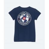 Pinda - Tee-shirt coton biologique Femme manches courtes - Marine