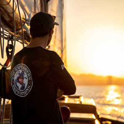 Golden hour never gets old ✨ Check out our soft 100% organic cotton t-shirts on our e-shop 😉 - 📸 © @valentinpacaut / @theexplorersofficial