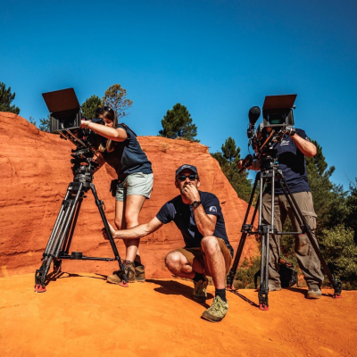 🎥 Shooting · The team at work, always with the good attire to record the planet's natural wonders, keeping on creating the Earth Inventory 😊 - 📸 © @valentinpacaut / @theexplorersofficial